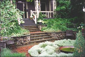 Landscape Design: Dana Schock, Project Location: Cambridge, MA., Built: 1992