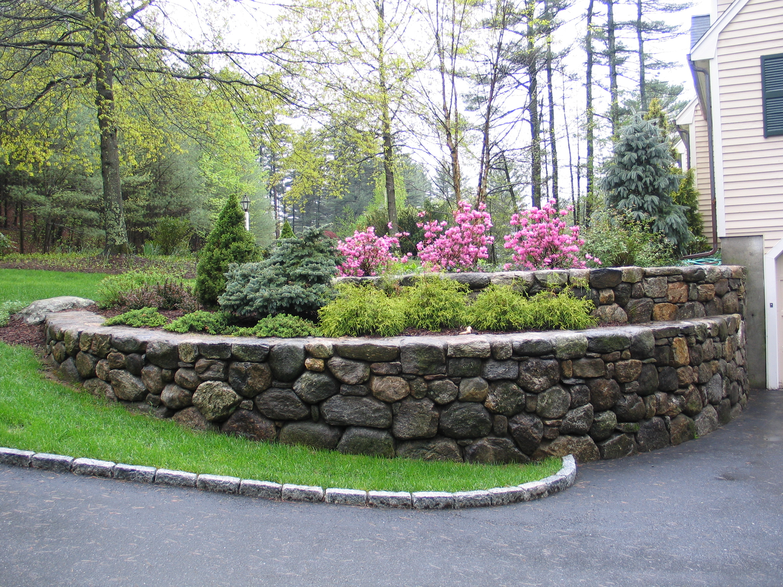 Landscape Design: Dana Schock & Associates, Project Location:  Lincoln, MA., Built: 1989